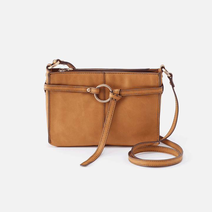 Libra Cognac Brown Leather Crossbody