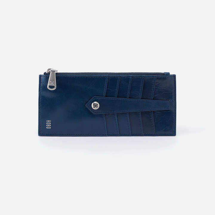 Linn Blue Leather Credit Card Wallet