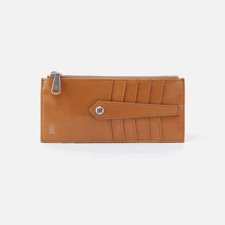 Linn Cognac Brown Leather Credit Card Wallet