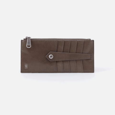 Linn Grey Leather Credit Card Wallet