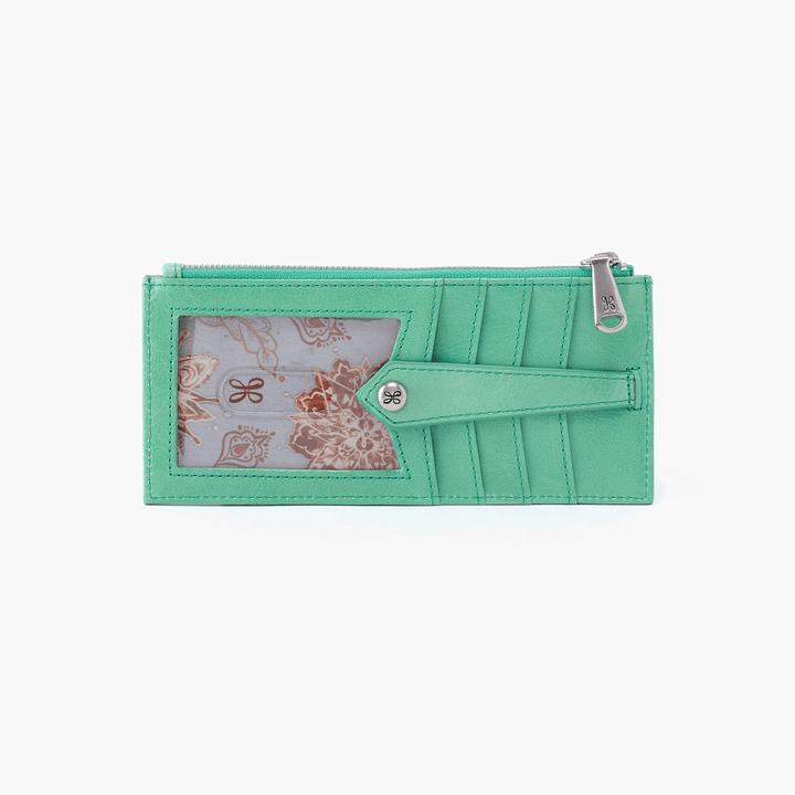 Linn Light Green Leather Credit Card Wallet