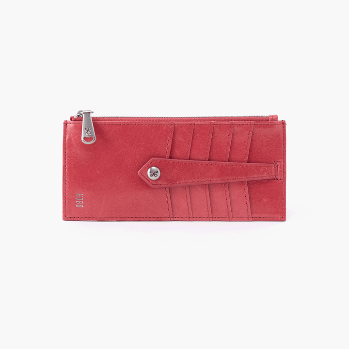 Linn Pink Leather Credit Card Wallet