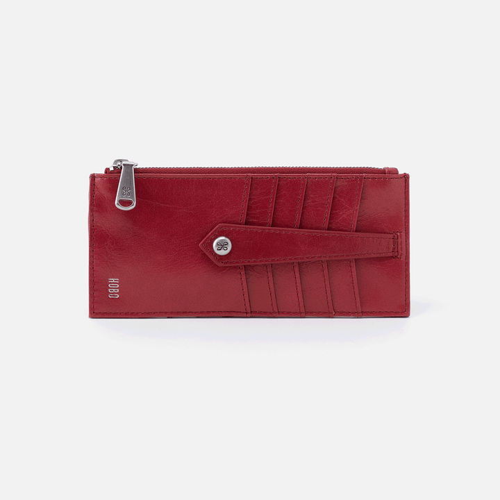 Linn Red Leather Credit Card Wallet