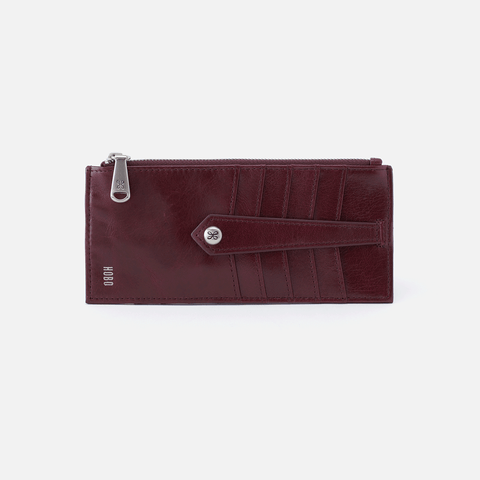 Linn Purple Leather Credit Card Wallet