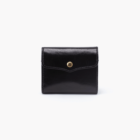 Luck Black Leather Wallet