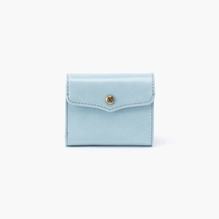 Luck Blue Leather Wallet