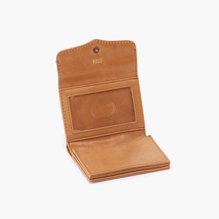Luck Cognac Brown Leather Wallet