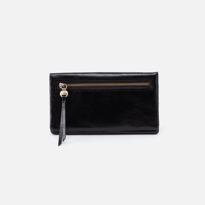 Lumen Black Leather Wallet