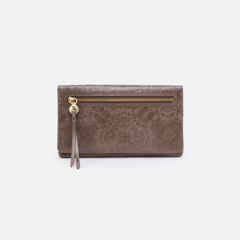 Lumen Embossed Grey Leather Wallet