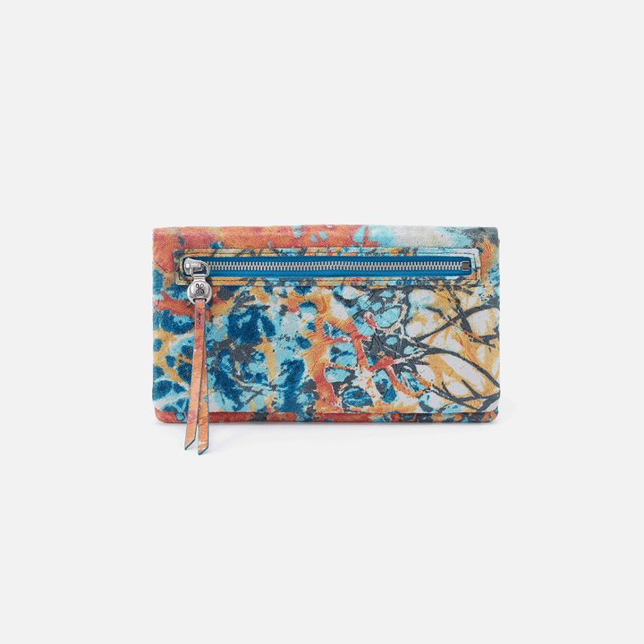 Summertime Abstract Lumen Continental Wallet  Hobo