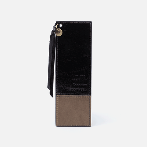 Mark Black Leather Bookmark