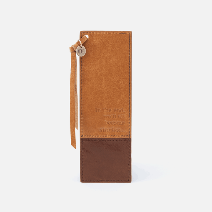 Mark Cognac Brown Leather Bookmark