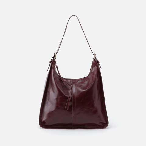 Marley Purple Leather Hobo