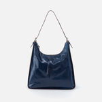 Marley Blue Leather Hobo Shoulder Bag