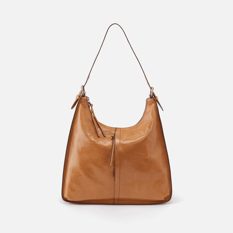 Marley Cognac Brown Leather Hobo Shoulder Bag