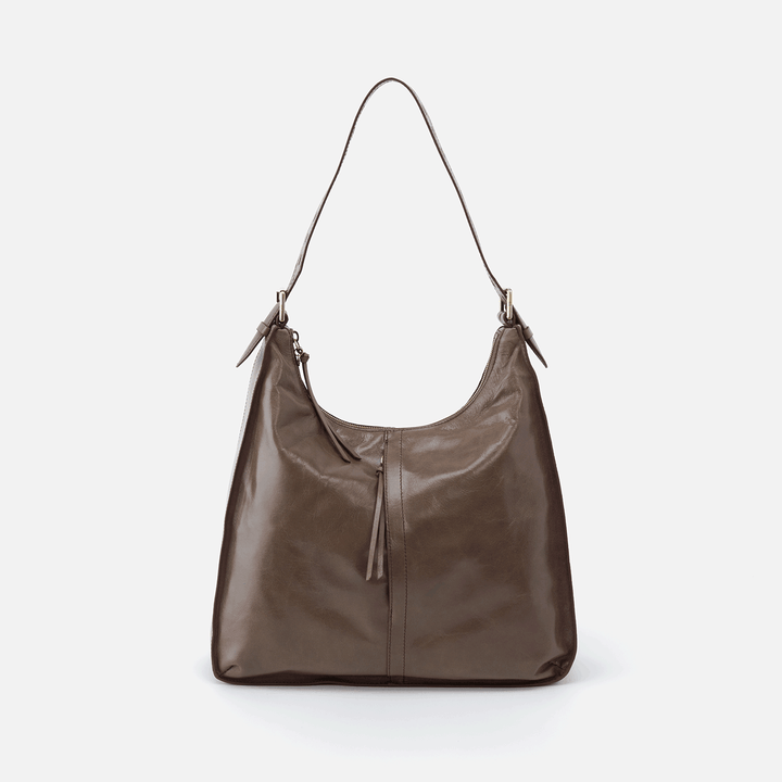 Marley Grey Leather Hobo Shoulder Bag