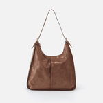 Marley Metallic Brown Leather Hobo Shoulder Bag