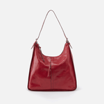 Marley Red Leather Hobo Shoulder Bag