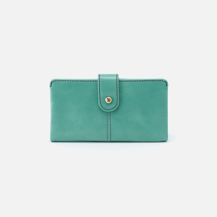 Marshal Seafoam Leather Wallet