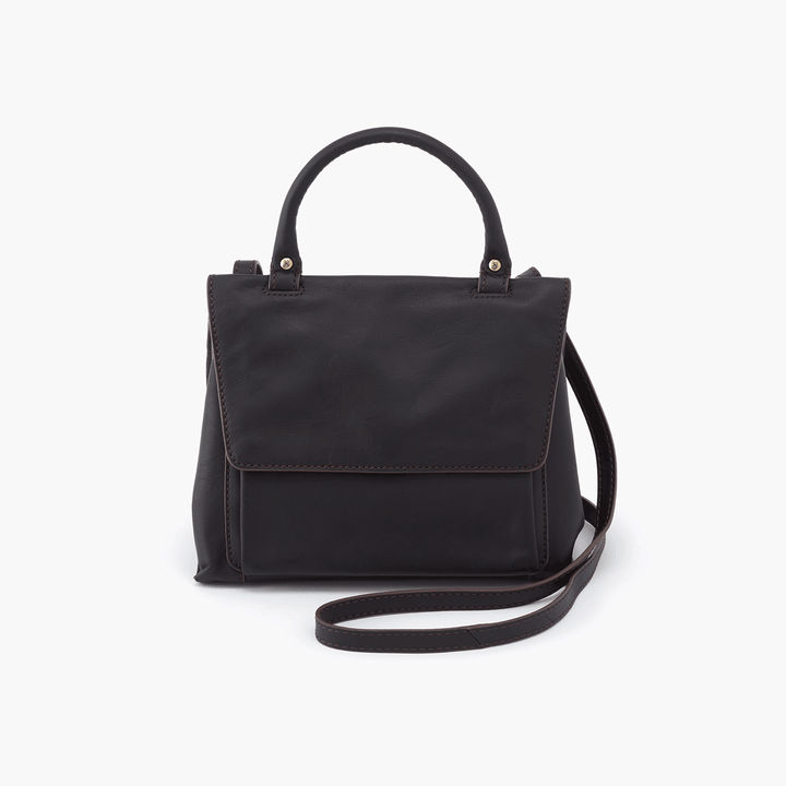 Meter Black Leather Small Crossbody