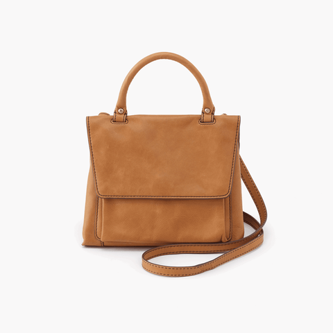 Meter Cognac Brown Leather Small Crossbody