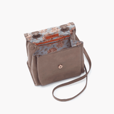 Meter Grey Taupe Leather Small Crossbody