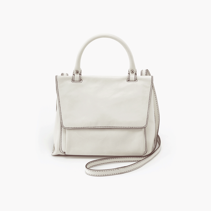 Meter White Leather Small Crossbody