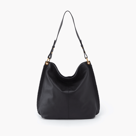 Moondance Black Leather Hobo Style