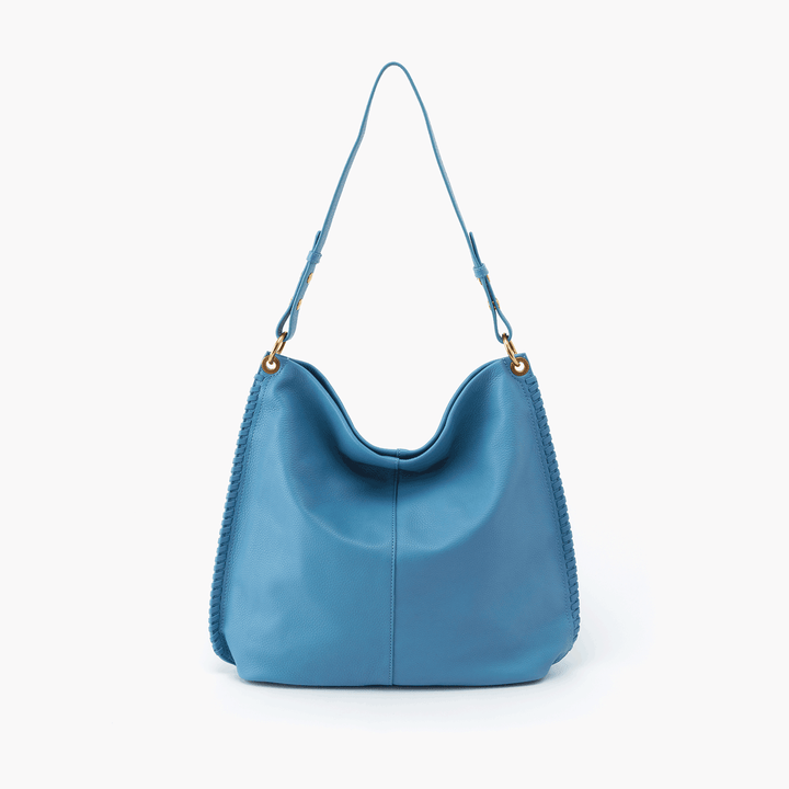 Moondance Blue Leather Hobo Style