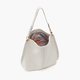 Moondance White Leather Hobo Style