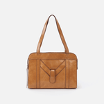 Motif Cognac Brown Leather Tote Bag