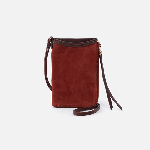 Moxie Red Suede Leather Small Crossbody