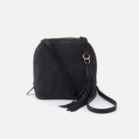 Nash Black Leather Small Crossbody