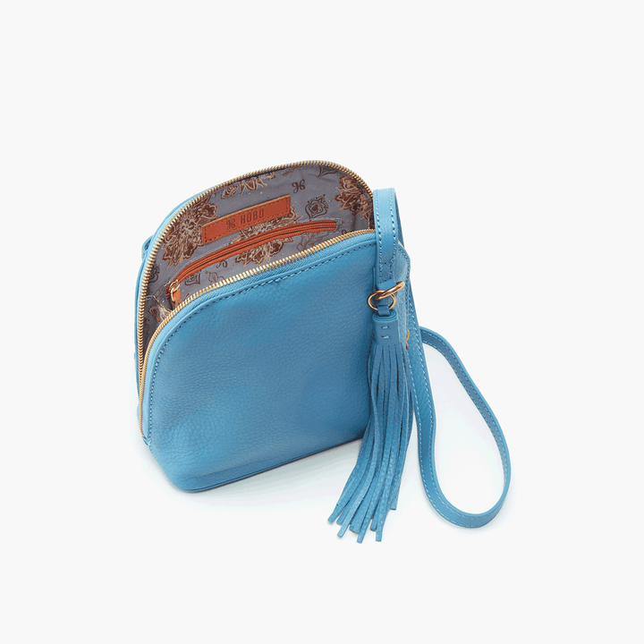 Nash Blue Leather Small Crossbody