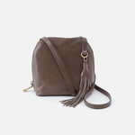 Nash Grey Leather Small Crossbody