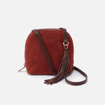 Nash Red Suede Leather Small Crossbody