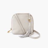 Nash White Leather Small Crossbody