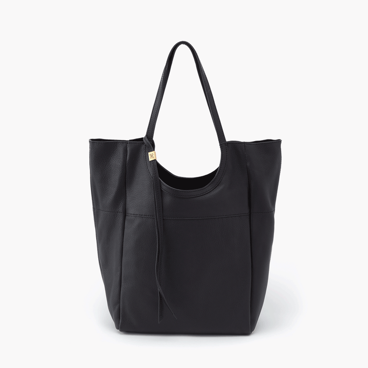 Native Black Leather Tote Bag