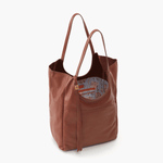 Native Brown Leather Tote Bag