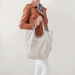 Native White Leather Tote Bag