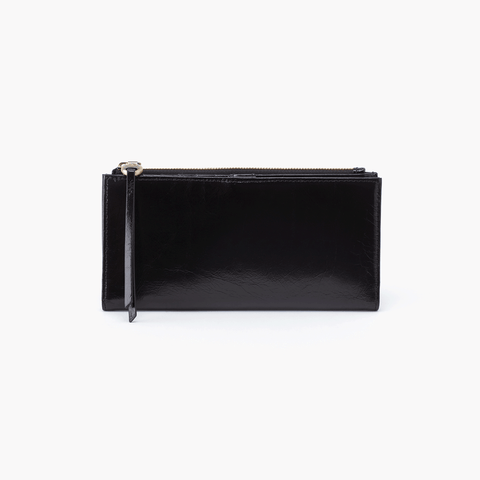 Ode Black Leather Large Wallet