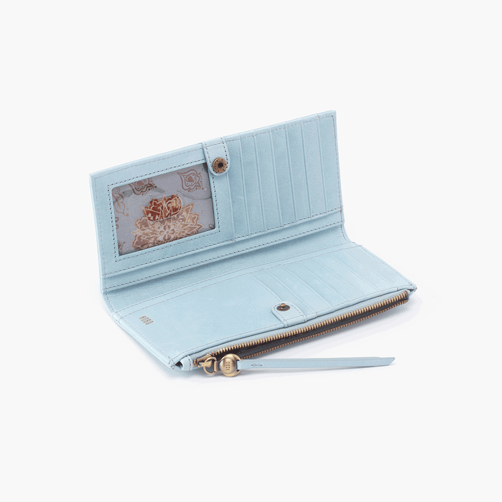 Ode Blue Leather Large Wallet