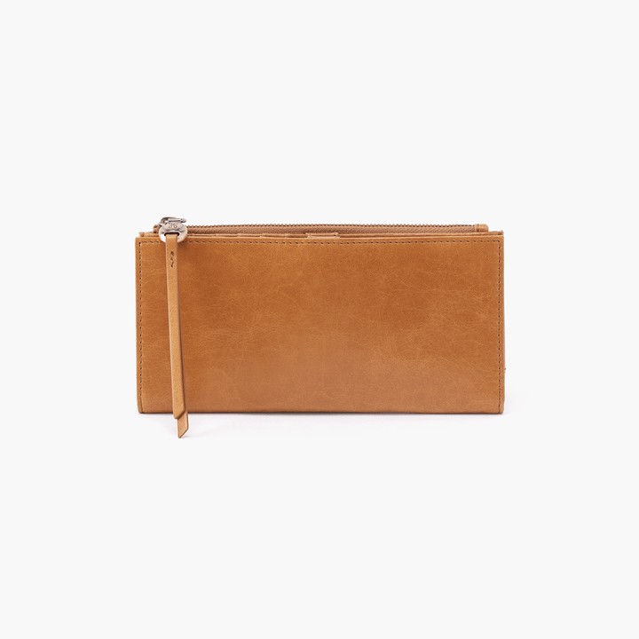 Ode Cognac Brown Leather Large Wallet
