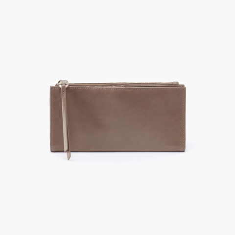 Ode Grey Taupe Leather Large Wallet
