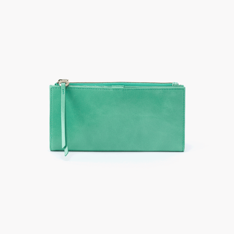 Ode Light Green Leather Large Wallet