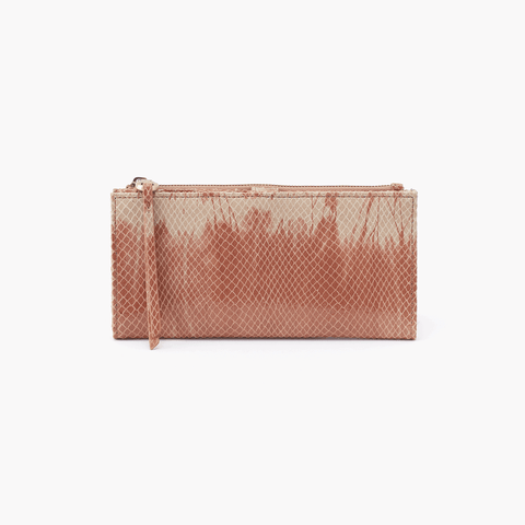 Ode Print Leather Large Wallet