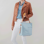 Park Blue Leather Shoulder Bag