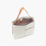 Park White Leather Shoulder Bag