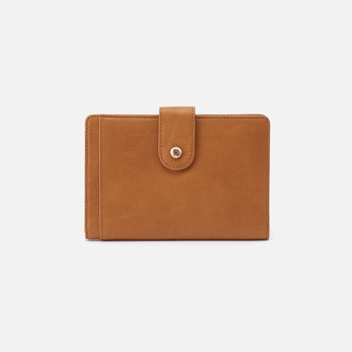Pax Cognac Brown Leather Passport Wallet