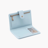 Pax Whisper Blue Vintage Leather Passport Wallet